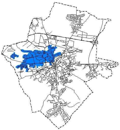 orientacyjny zasieg terytorialny wody dostarczanej przez suw zacisze
