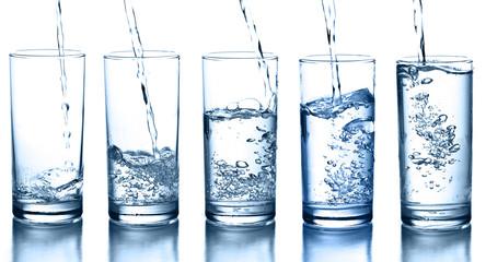 szklanki z wodą